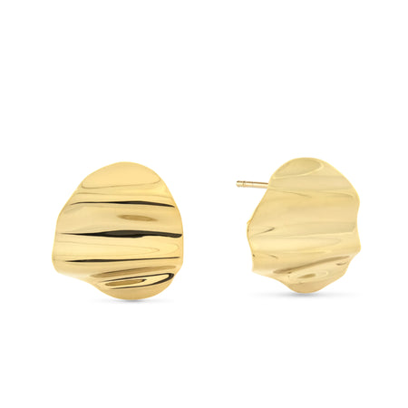 Twisted Sister Hoop Earrings. Gold Vermeil.