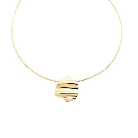 Josephine Orb Necklace, Gold Vermeil
