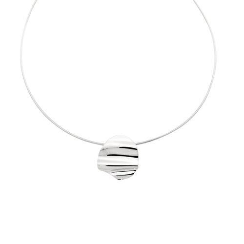 L'Eau Collar Necklace. Sterling Silver - MONARC CONCIERGE