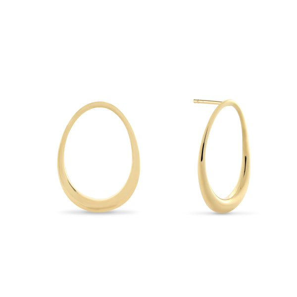L'Ovale Earrings. Gold Vermeil - MONARC CONCIERGE