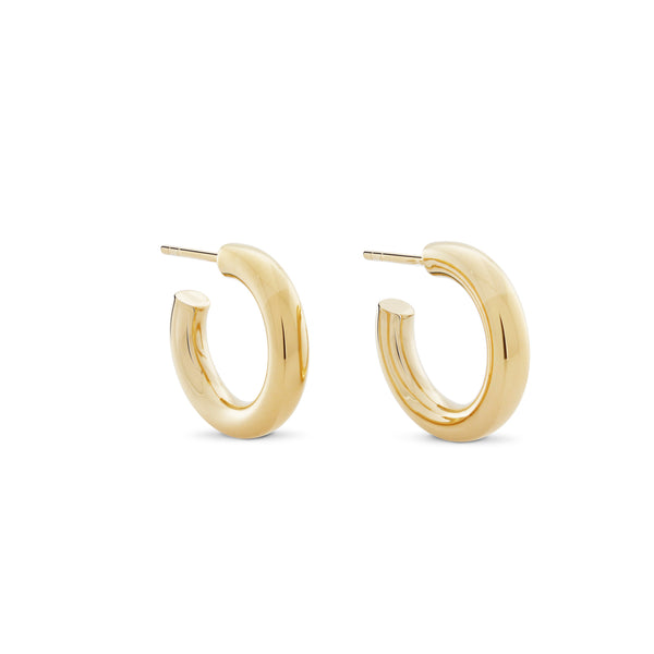 Little Chubbies Hoops. Gold Vermeil - MONARC CONCIERGE