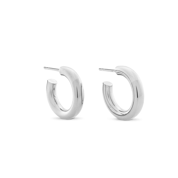 Little Chubbies Hoops. Sterling Silver - MONARC CONCIERGE