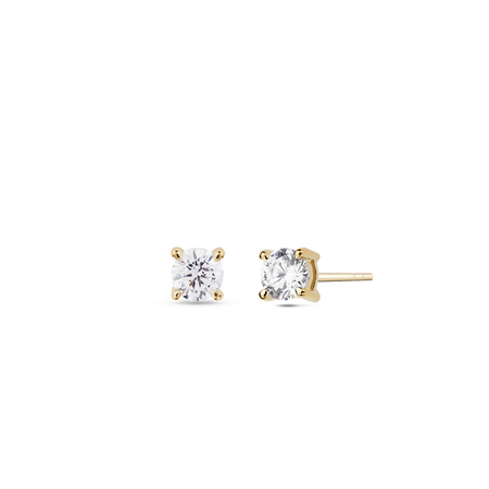 Coeur Diamond Solitaire Ring. 18k Yellow Gold