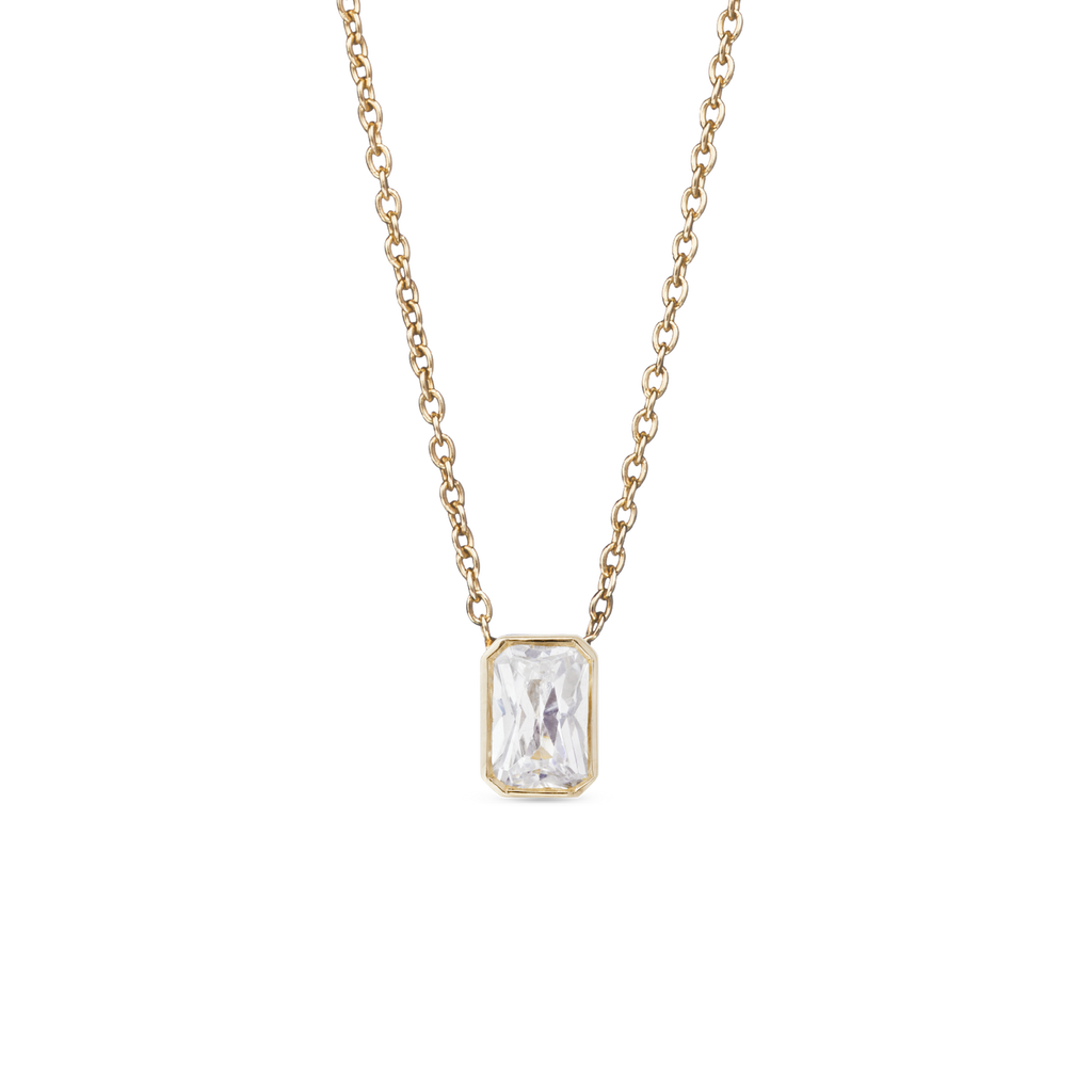 Thea Solitaire Diamond Necklace. 9k Yellow Gold - MONARC CONCIERGE