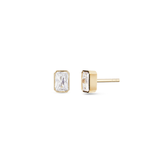 Thea Solitaire Diamond Earrings. 9k Yellow Gold - MONARC CONCIERGE