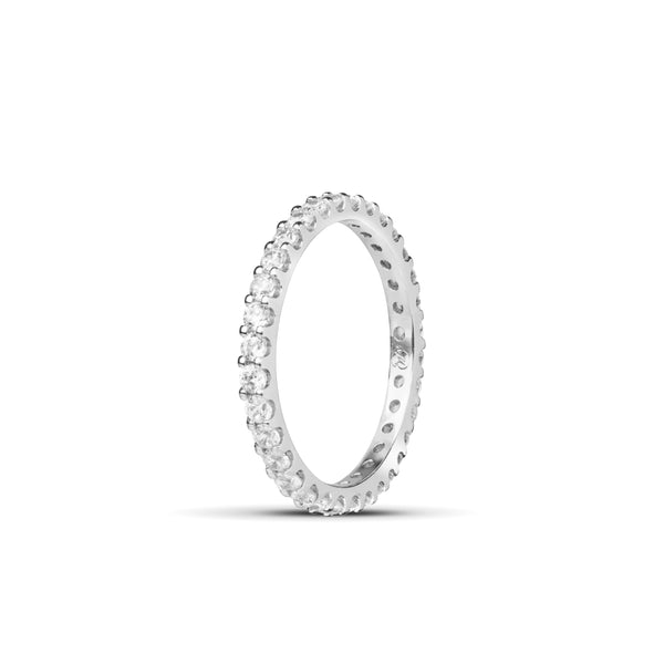 Signature Diamond Eternity Ring. 18k White Gold
