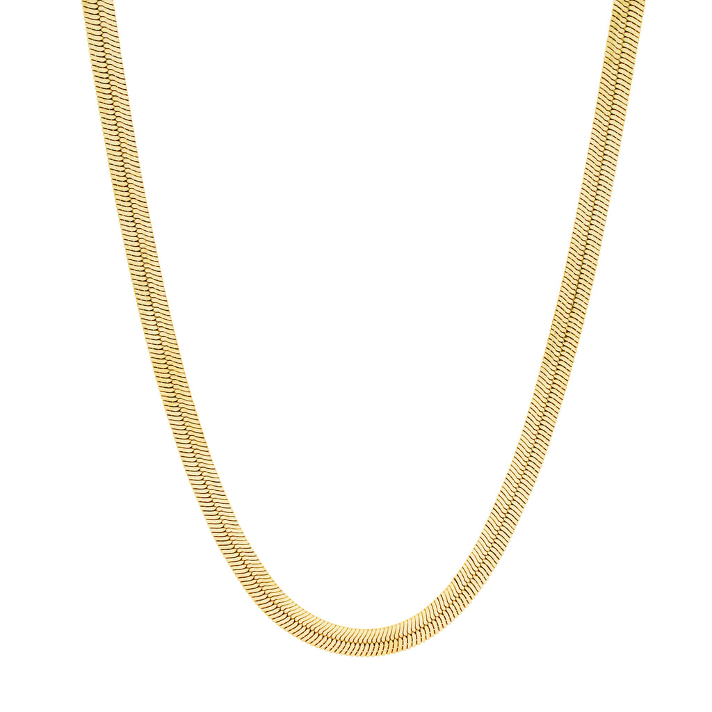Silky Tie Necklace. Gold Vermeil - MONARC CONCIERGE