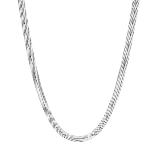 Silky Tie Necklace. Sterling Silver