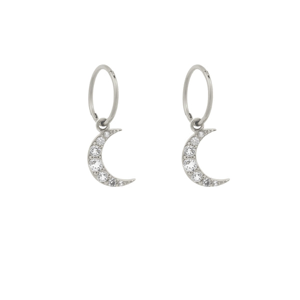 Moonlight Hoops. Sterling Silver - MONARC CONCIERGE