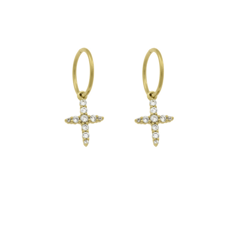 Holiday Hoop Earrings. Gold Vermeil
