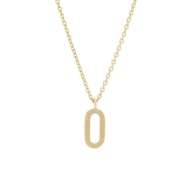 O Medaille d'Amour Alphabet Necklace. 9k Gold & Diamond - MONARC CONCIERGE