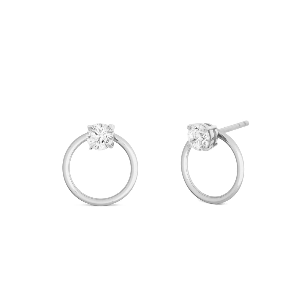 Orla 2-in-1 Diamond Solitaire Earrings. 18k White Gold or Platinum - MONARC CONCIERGE