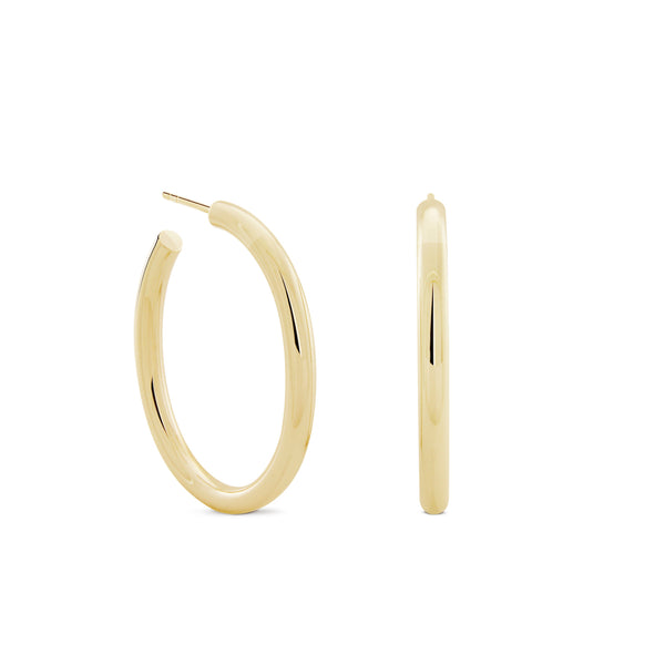 Oval Chubbies Hoops. Gold Vermeil - MONARC CONCIERGE