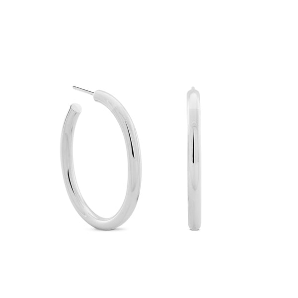 Oval Chubbies Hoops. Sterling Silver - MONARC CONCIERGE