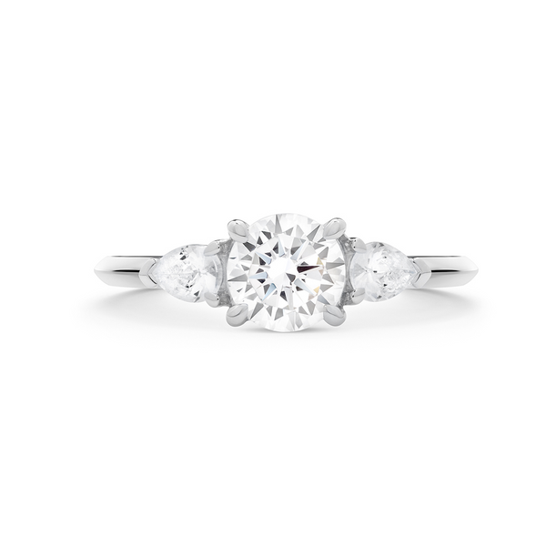 The Reine Diamond Trilogy Ring. 18k White Gold or Platinum - MONARC CONCIERGE