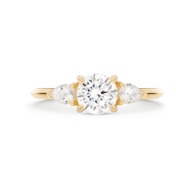 The Reine Diamond Trilogy Ring. 18k Yellow Gold - MONARC CONCIERGE