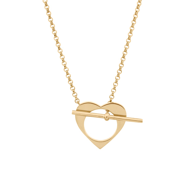Romeus Heart Necklace. Gold Vermeil