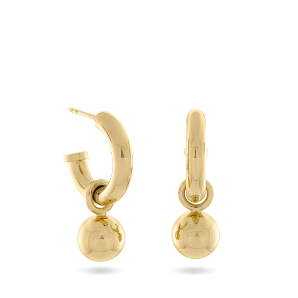 Scout Hoop & Ball Earrings, Gold Vermeil - MONARC CONCIERGE