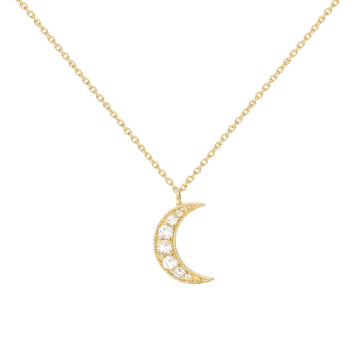 Selene Necklace. 9ct Yellow Gold & White Topaz