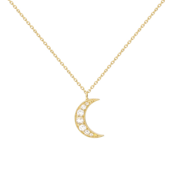 Selene Necklace. 9k Yellow Gold & White Topaz - MONARC CONCIERGE