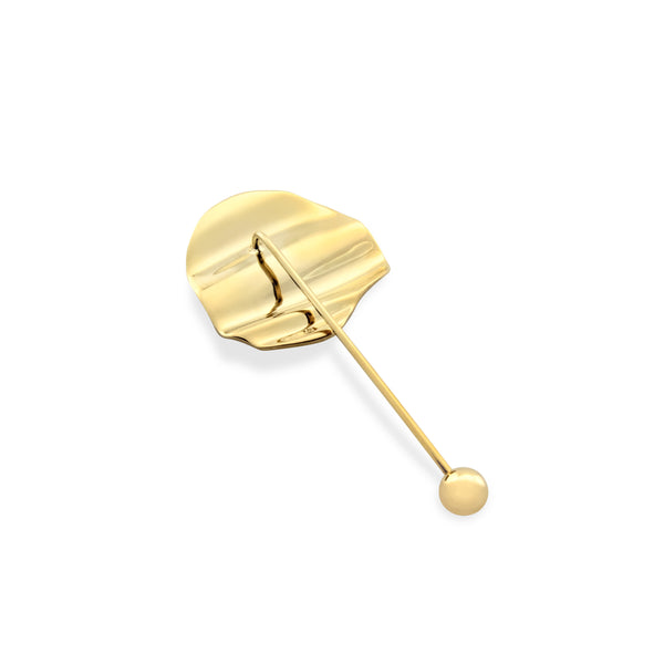 L'Eau Lapel Pin. Gold Vermeil - MONARC CONCIERGE