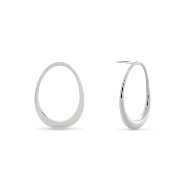 L'Ovale Earrings. Sterling Silver. - MONARC CONCIERGE