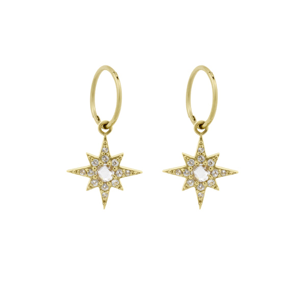 Endless Starburst Hoops. Gold Vermeil - MONARC CONCIERGE