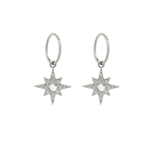 Endless Starburst Hoops. Sterling Silver - MONARC CONCIERGE