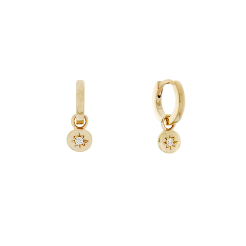 Starlet Charm Hoop Earrings. Gold Vermeil - MONARC CONCIERGE