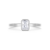 Thea Diamond Solitaire Ring. 18k White Gold or Platinum - MONARC CONCIERGE