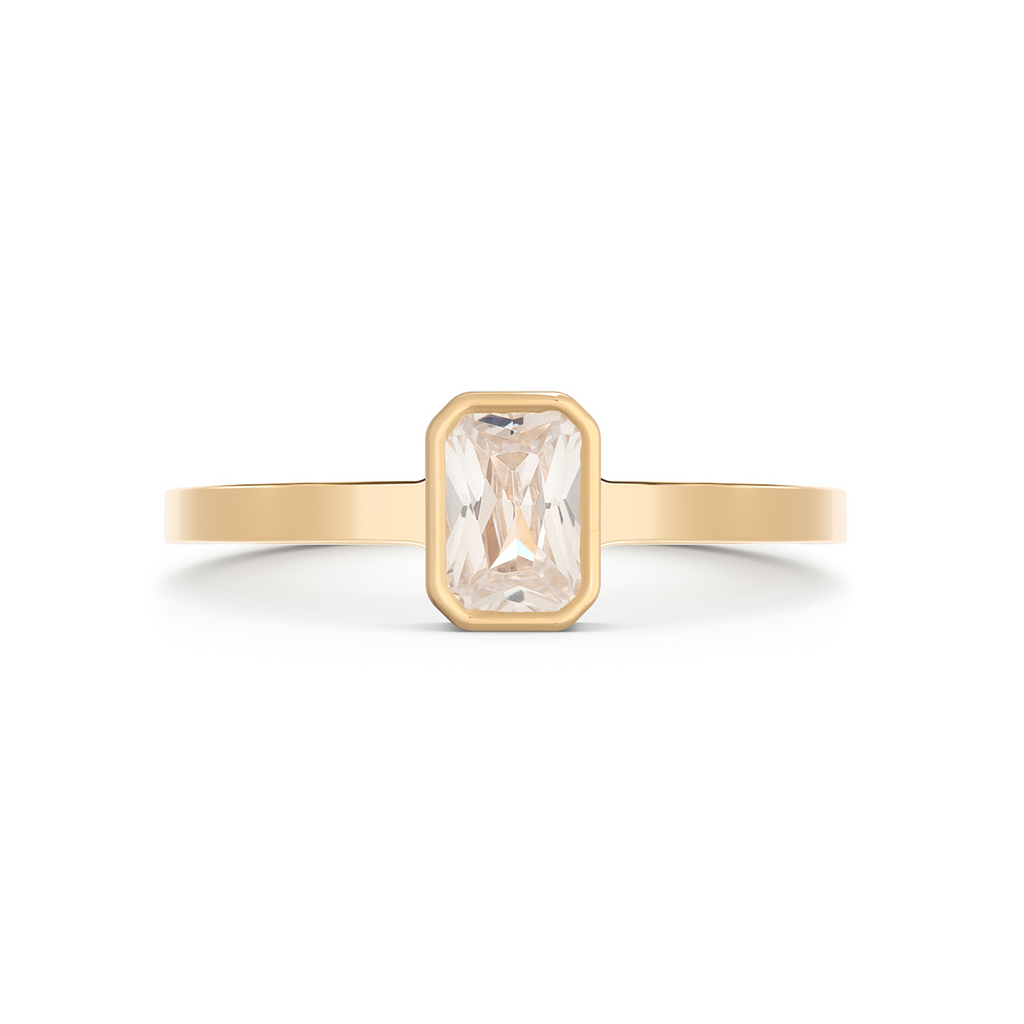 Thea Diamond Solitaire Ring. 18k Yellow Gold - MONARC CONCIERGE