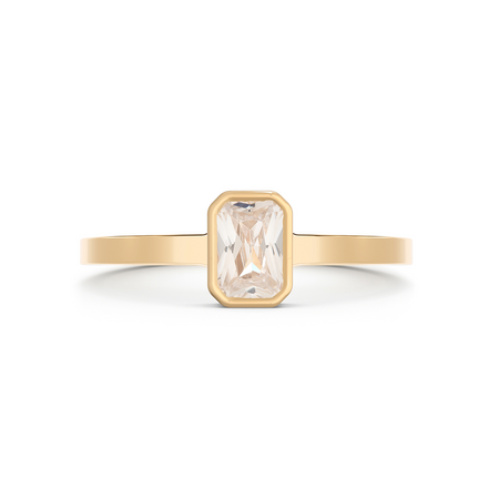 Cleopatra Chevron Diamond Ring Set. 18k Yellow Gold