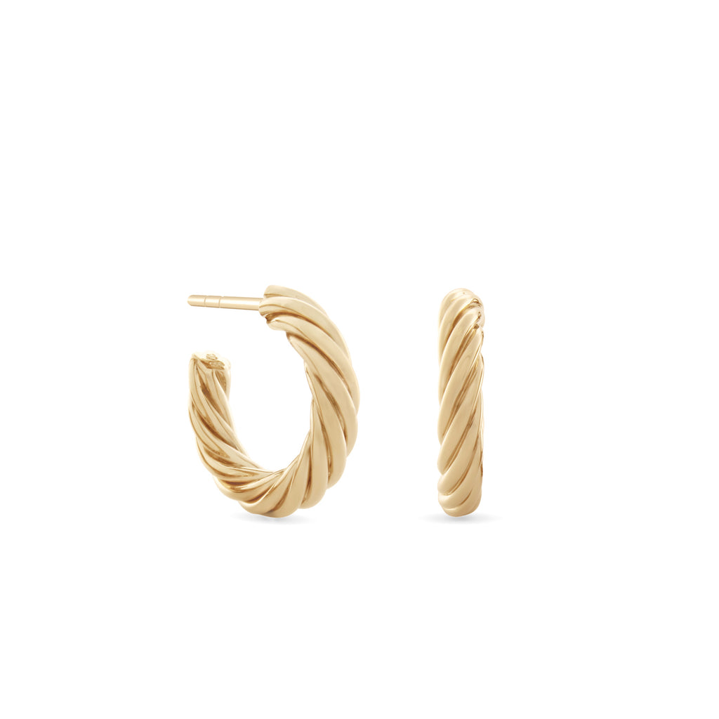 Twisted Sister Hoop Earrings. Gold Vermeil - MONARC CONCIERGE