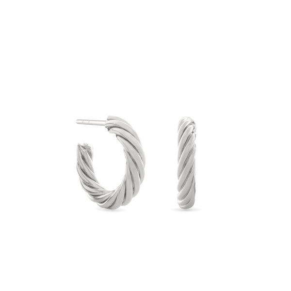 Twisted Sister Hoop Earrings. Sterling Silver - MONARC CONCIERGE