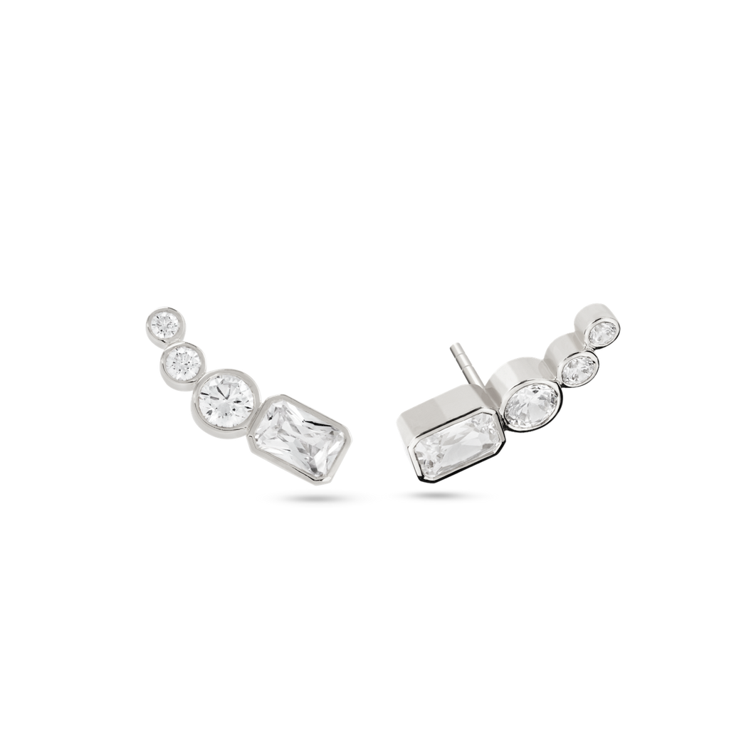 Thea Diamond Ear Pin. 9k White Gold - MONARC CONCIERGE