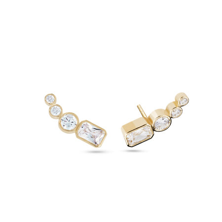 Embrasé Diamond & Pearl Hoop Earrings. 9k White Gold