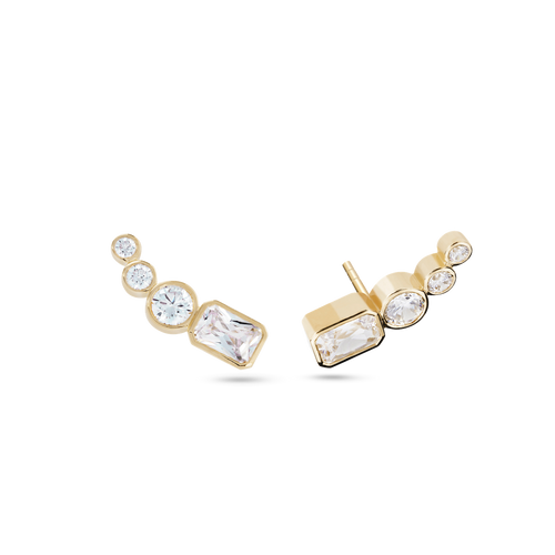 Thea Diamond Ear Pin. 9k Yellow Gold - MONARC CONCIERGE