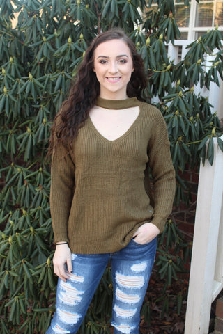 Make a Statement Sweater-Olive