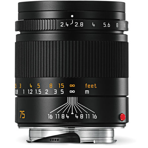 Leica 11682 Summarit-M 75mm/f2.4 Telephoto Lens, Black