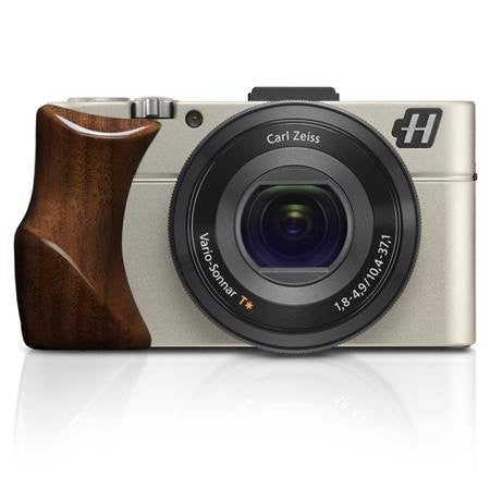 Hasselblad Stellar II Compact Digital Camera with Walnut Wood Grip and Brown Leather Strap, 20.2MP, Full HD 1080/60p Video, Wi-Fi, NFC, Silver