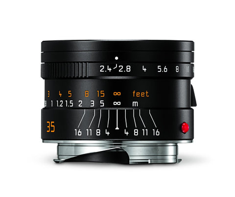 Leica 11671 Summarit-M 35mm/f2.4 ASPH Wide-Angle Lens, Black