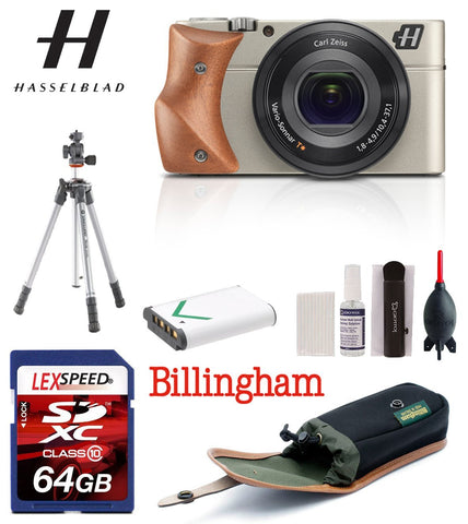 nt_Kit_1 New 	 Hasselblad Stellar Camera-Silver camera/Mahogany Wood Grip, Elegant Traveller Bundle …