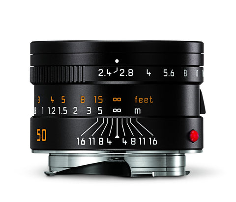 Leica 11680 Summarit-M 50mm/f2.4 Normal Lens, Black