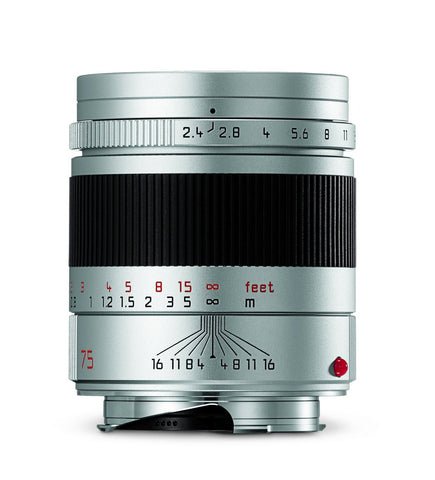 Leica 11683 Summarit-M 75mm/f2.4 Telephoto Lens, Silver