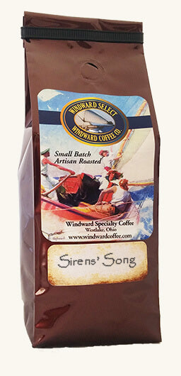 Windward Coffee's Sirens' Song's mild acidity, full body, silky mouthfeel and seductive crema more than satisfies.