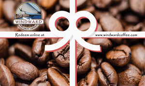 Gift cards from Windward Coffee make the perfect gifts for the coffee lovers in your life.