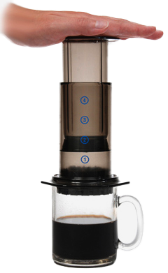 With an Aeropress your next cup is a simple press away.