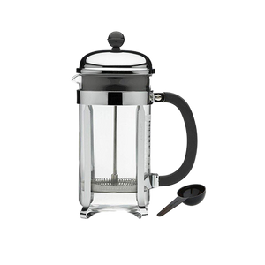 Enjoy classic French press coffee with this 8-cup Bodum Chambord press from Windward Coffee.