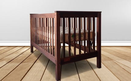 greencradle.com natural and sustainable wood baby crib