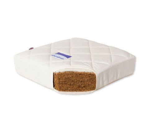 Naturalmat Quilted Coco Natural and Organic Coir Baby Crib Mattress